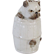 Rare Antique Pug Dog Salt Shaker Figural