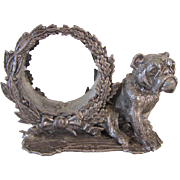 Ornate Napking Ring English Bulldog Decoration