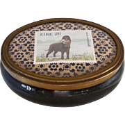 Vintage Dresser Box w/Portuguese Water Dog Stamp