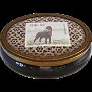Vintage Dresser Box w/Portuguese Water Dog Stamp