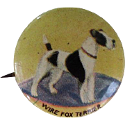 Vintage Wire Fox Terrier Pinback