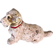 Large Size Cast Iron Terrier Vintage Paperweight