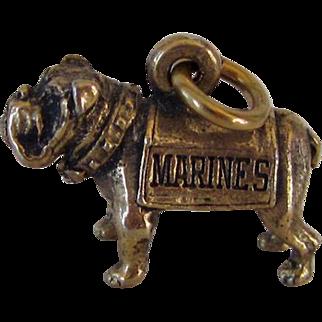 Vintage Marines Bulldog Charm Crest Ware