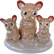 Lustreware French Bulldog/Boston Terrier Condiment Set