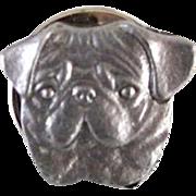 Vintage Pug Pewter Pin Rawcliffe