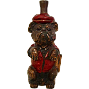 Ronson Striker Lighter Dressed And Painted Bulldog Vintage