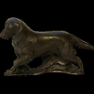 Solid Bronze Miniature Golden Retriever Signed Ltd. Edition