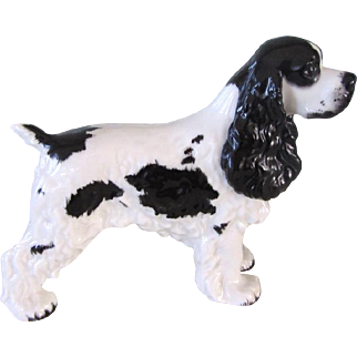 Vintage Boehm Cocker Spaniel Dog Rare Color