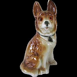 Vintage Perfume Lamp German Shepherd Dog