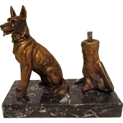 Extremely Rare Striker Lighter German Shepherd/Belgian Malinois Antique