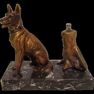Extremely Rare Striker Lighter German Shepherd/Belgian Malinois Antique