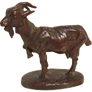 Signed Bronze Miniature Goat Theodore Starr
