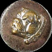 Antique Brass on Steel Two Piece Bulldog Button