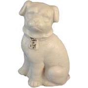 Dollhouse Bisque Pug Dog Antique