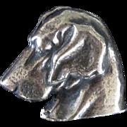 800 Silver Vintage Blood Hound Brooch/Pin