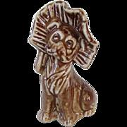 Antique Pug Dog w/Bonnet Rockingham Style