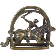 Vintage Polo Player w/Horse Brass Buckle
