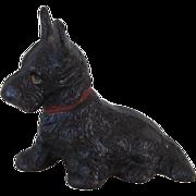 Vintage Hubley Cast Iron Scotty Dog Paperweight