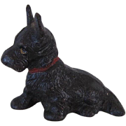 Vintage Hubley Cast Iron Scotty Dog Paperweight