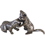 Vintage Silver-plated Miniature Cats/Kittens