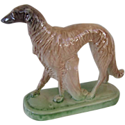 Vintage Deco Statue Borzoi Russian Wolfhound Dog
