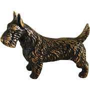 Handsome Vintage Miniature Scotty Dog Bronze