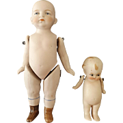 Two German All Bisque Dolls