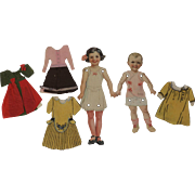 Dennison jointed Paper Dolls with Clothing