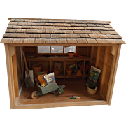 Miniature Potting Shed for your Doll House, Complete w/accessories