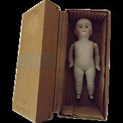 "5 1/2"" All Bisque Doll In Original Box"