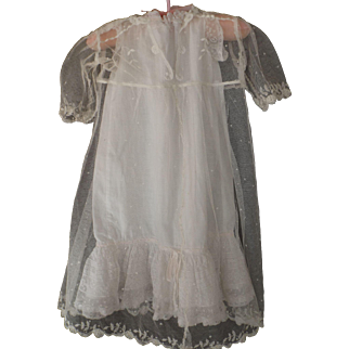 Net Dress with Full Slip for a Large Doll