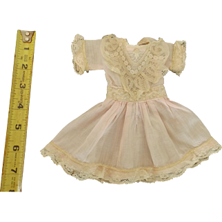 Pretty Pale Pink Dress for a Small Doll
