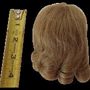 "7""-8"" Human Hair Wig, Long Curls"