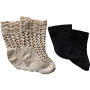 Two Pairs of Doll Socks