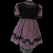 Vintage Doll Dress , Lace Trim