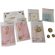 Doll Jewelry, Buttons--necklaces, earrings, etc