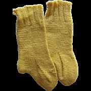Vintage Hand Knit Fine Wool Socks