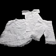 Three Piece Set of Doll's Underwear