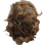 Old Blond Mohair Doll Wig
