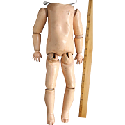 French Composition Ball Jointed Doll Body For Parts