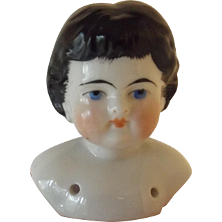 Pretty China Shoulder Head with Bangs and Brushstrokes