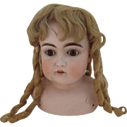 Blond Mohair Wig With Long Curls