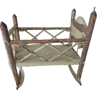 Small Old Wood Crib on Rockers