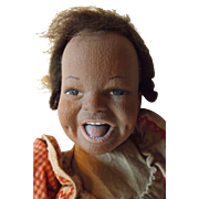 Unusual Artist Doll With Open Mouth