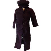 Three Piece Antique Suit for a Male Doll--China, Papier Mache, French Fashion