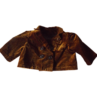 Brown Velvet Doll Jacket