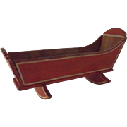 Early Wooden Doll Cradle