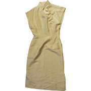 Cream Silk Dress To Use For Doll Clothes