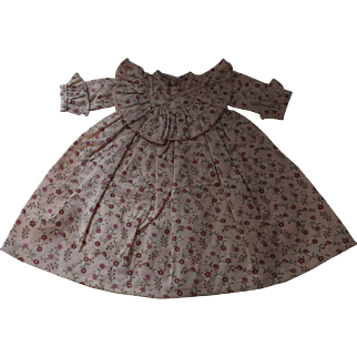 "Pink Flowered Print Dress--11""--12"""