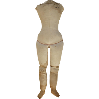 Large Cloth Body for a China or Bisque Shoulder Head